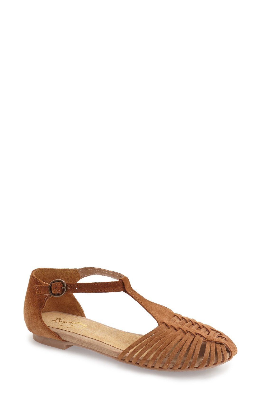 Seychelles 'Into Thin Air' Leather Huarache Flat Sandal (Women) | Nordstrom