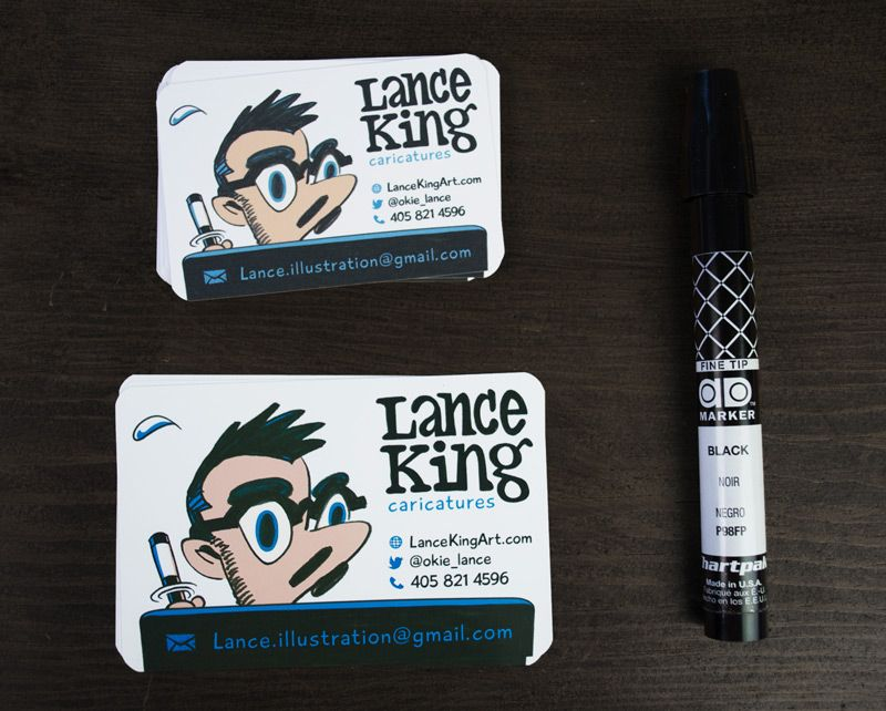Lance King - self-promotional branding - freelance caricature ...