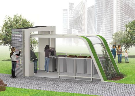 Econology Life Recycle House Should Be Our Future Garbage Facility Recycled House Recycling Station Recycling