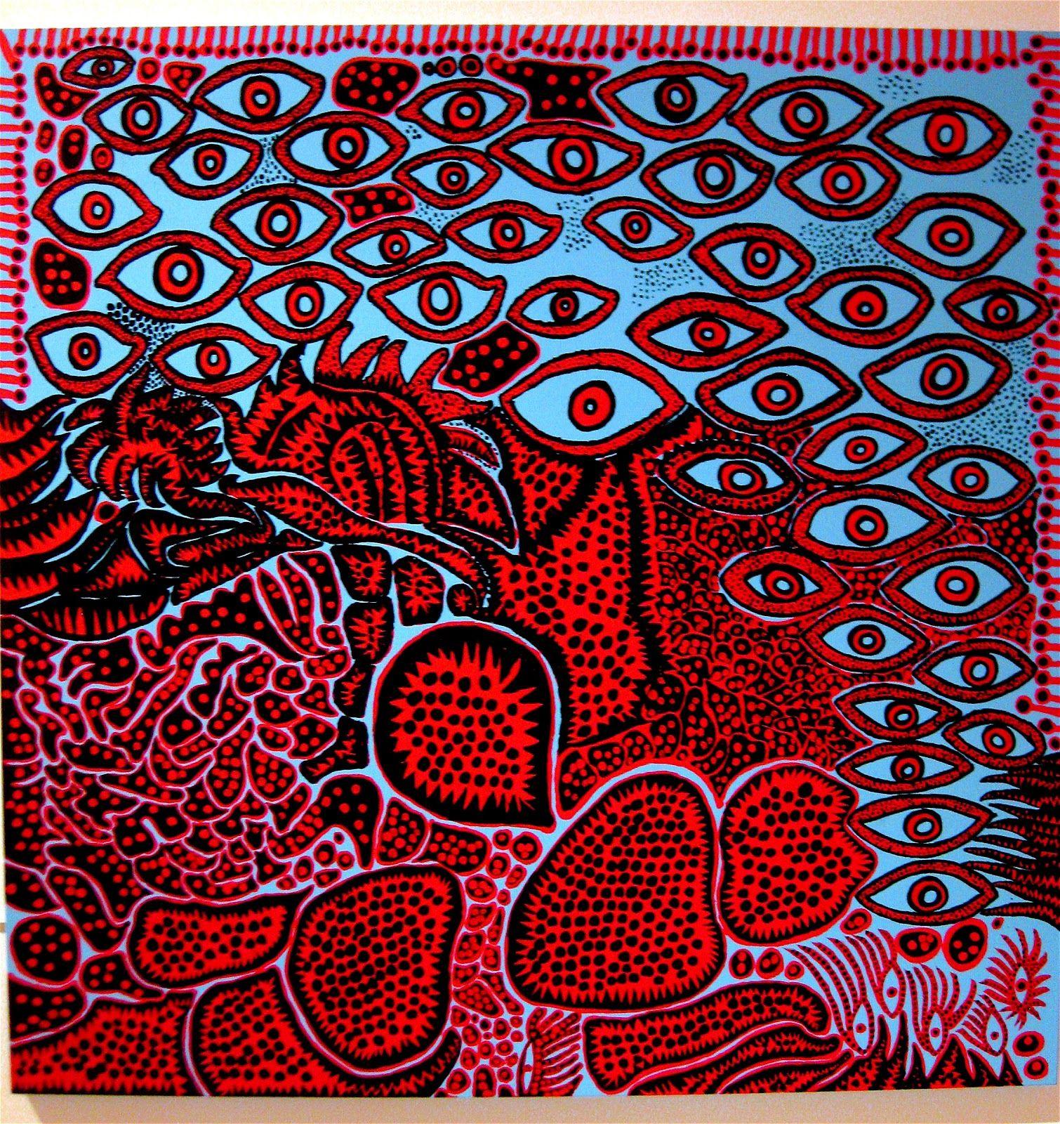 Eyes of Mine Yayoi Kusama 2010, acrylic on canvas
