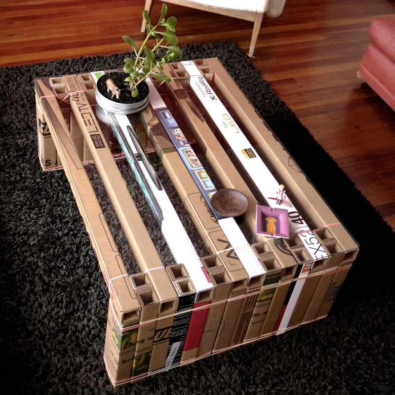 mesa carton diy carton pinterest carton meuble carton et meuble en carton. Black Bedroom Furniture Sets. Home Design Ideas