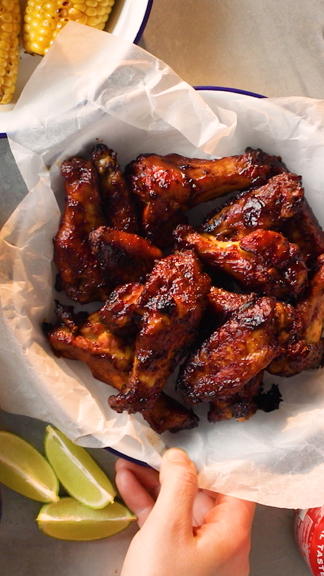 Rum and Coke Chicken Wings