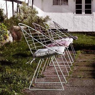 Gartenstuhl Metall Happy weiß von Nordal