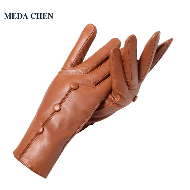 c37c7054a Click to Buy << Winter leather gloves Fashion Vintage gloves women Top  Grade women leather gloves winter Small black snap design #Affiliate