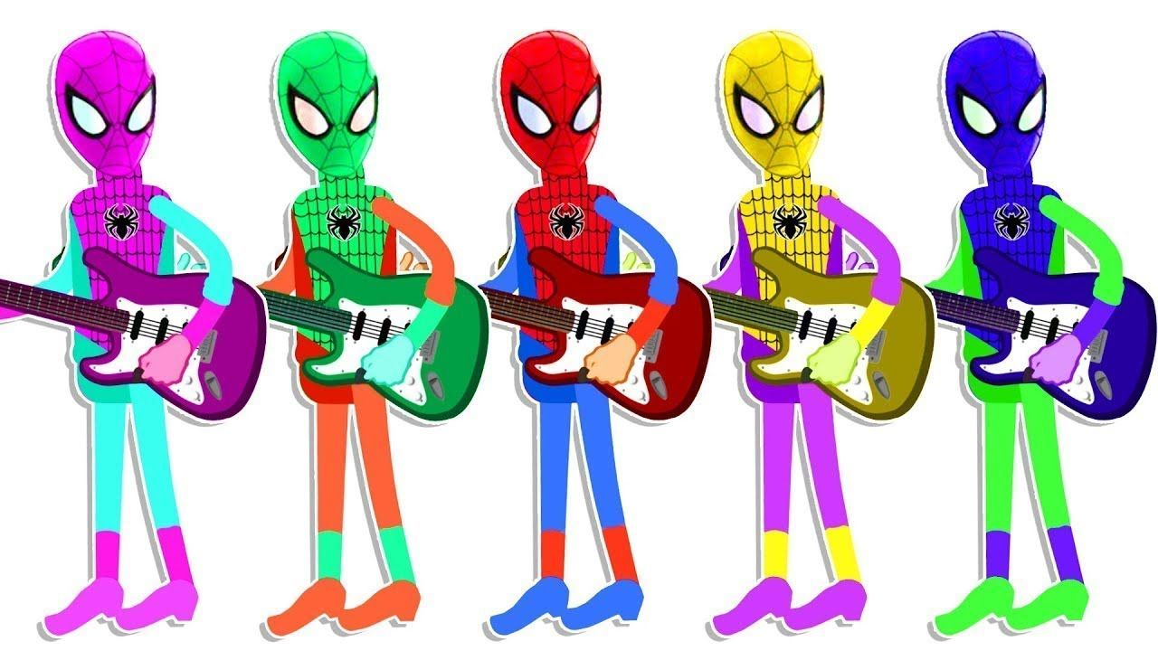 learn color with wooden face hammer xylophone colors spiderman