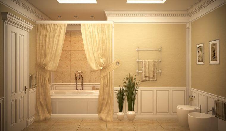 Tenda Per Vasca Da Bagno Piccola : Idea come arredare un bagno piccolo pareti rivestite di legno e