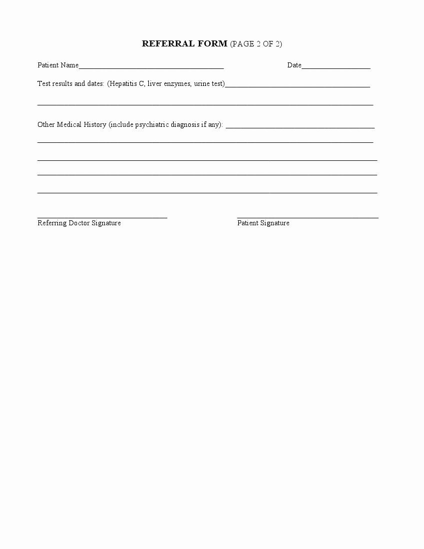 Physician Referral Form Template Awesome Medical Referral Form 8 Free Documents In Word Pdf How To Make Brochure Referral Cards Card Templates