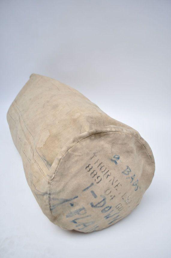 afff8a725fd ... vintage canvas duffle bag duffel us NAVY COAST GUARD usn wwII world war  2 ww2 stenciled ...