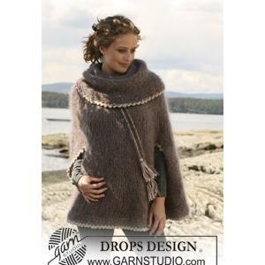 Ladies poncho knitting pattern with large collarhood in drops to ladies poncho knitting pattern with large collarhood in drops dt1010fo