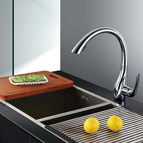 Homelody® Ein Hebel Mischbatterie mit hochwertiger Keramikkartusche - armatur küche ausziehbar