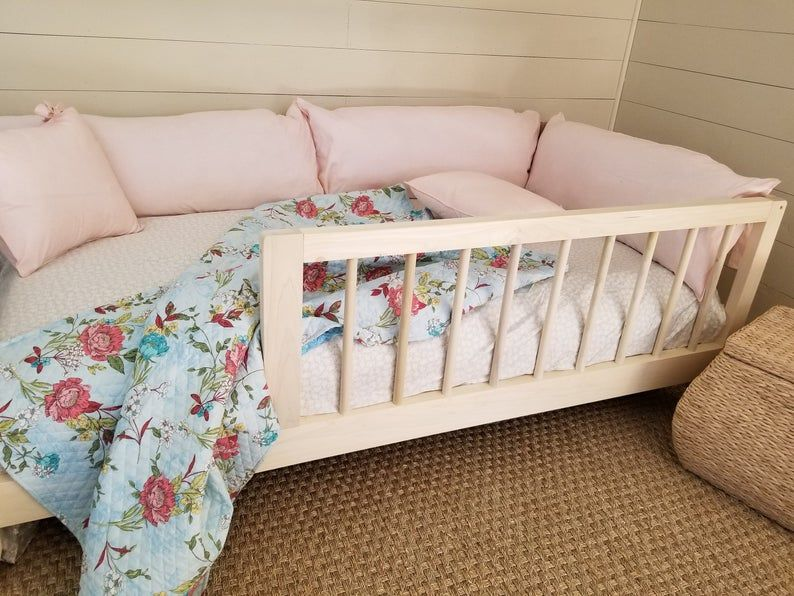 Twin or Full Size Montessori Floor Bed to Raised Bed Frame