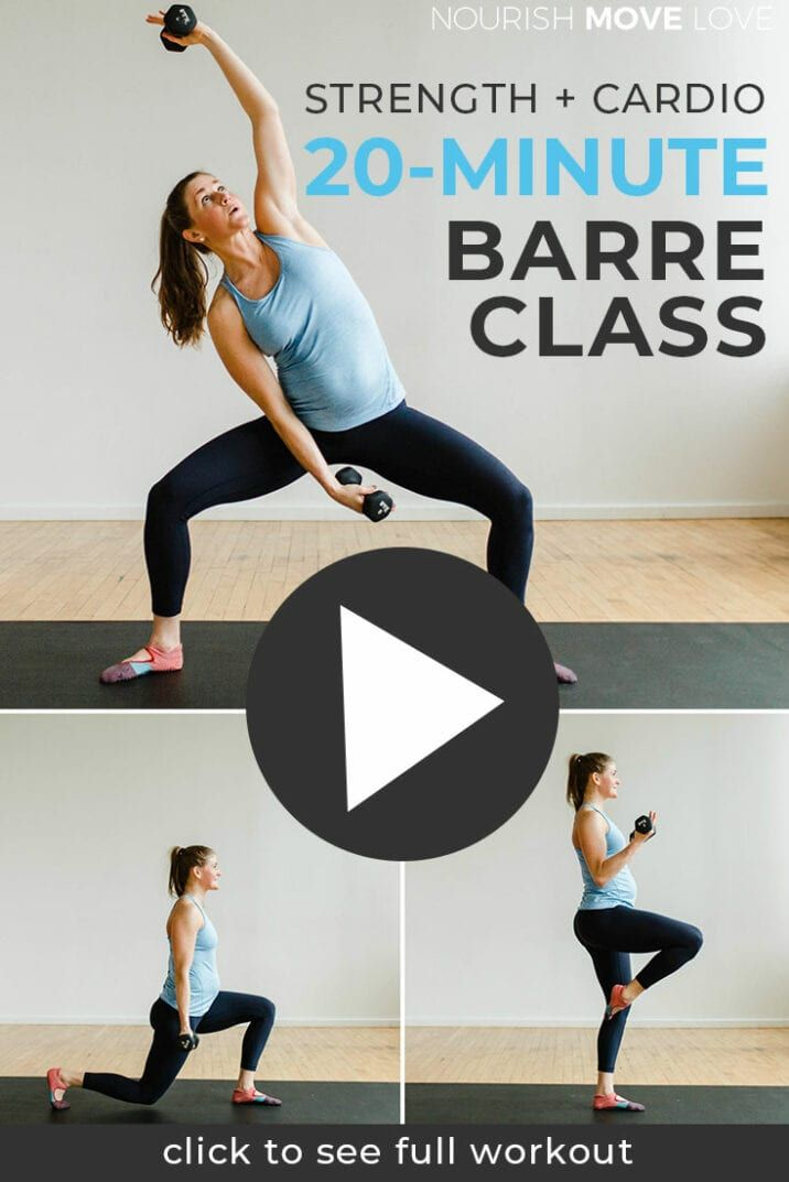 20-Minute Barre Class At Home Workout Video | Nourish Move Love
