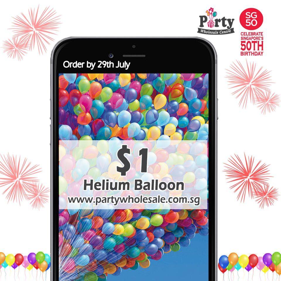 SG50 1 Helium Balloons!