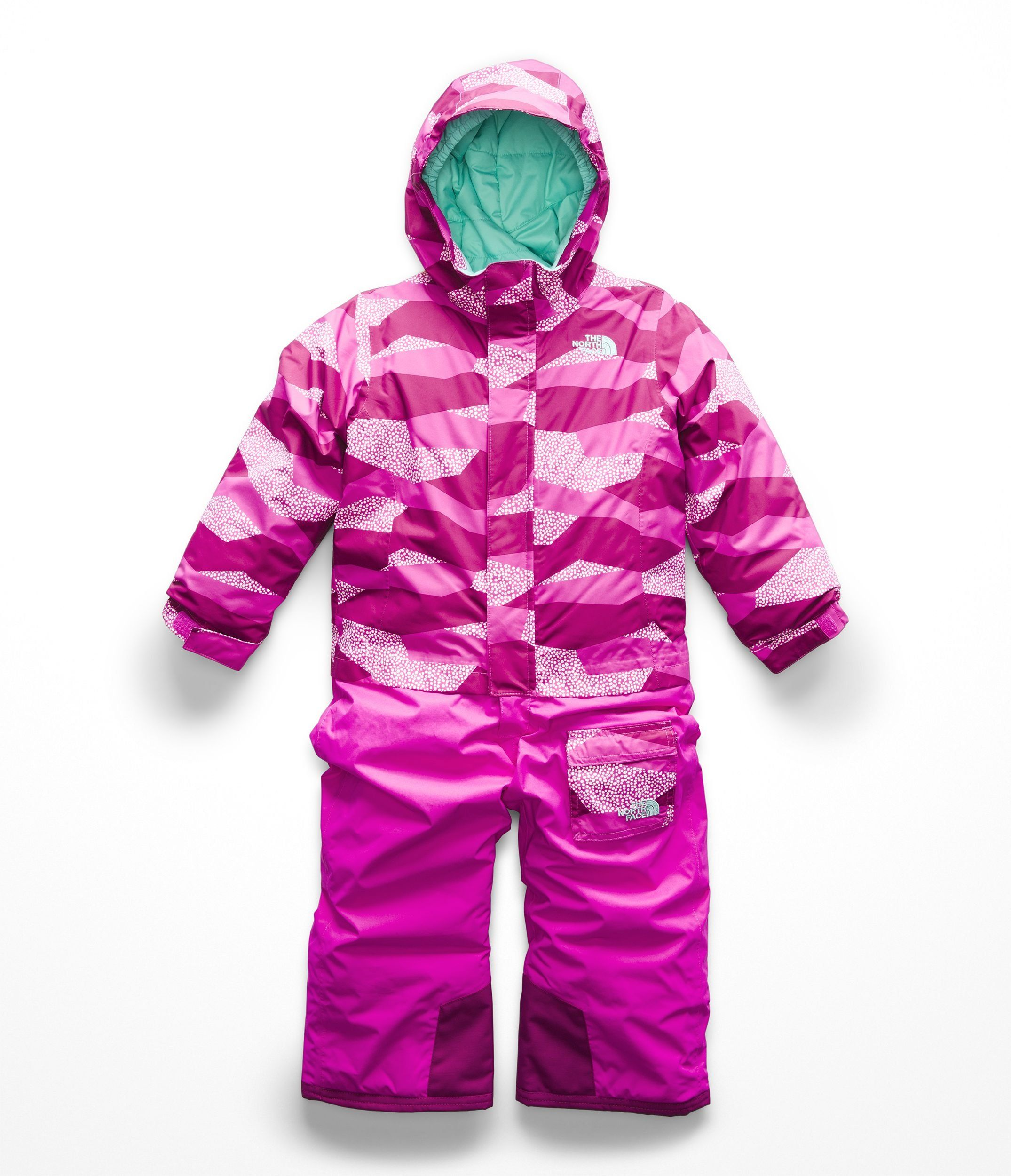 The North Face Todd Insulated Jumpsuit Azalea Pink Geo Block Print 3t Learn A Lot More B Toddler Snowsuit Baby Girl Outfits Newborn Toddler Girl Jackets [ 2500 x 2150 Pixel ]