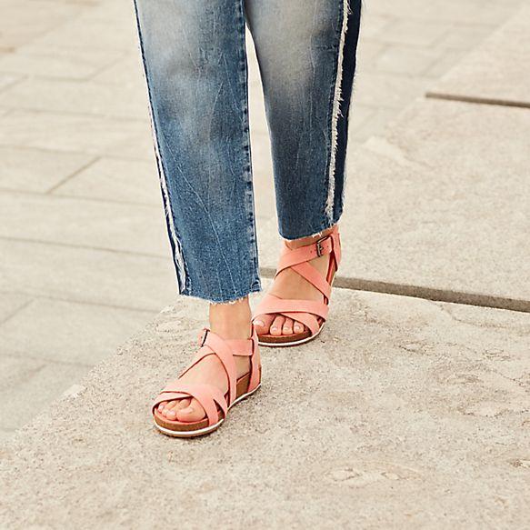 9fbd222a712c Women's Malibu Waves Ankle Strap Sandal Pink
