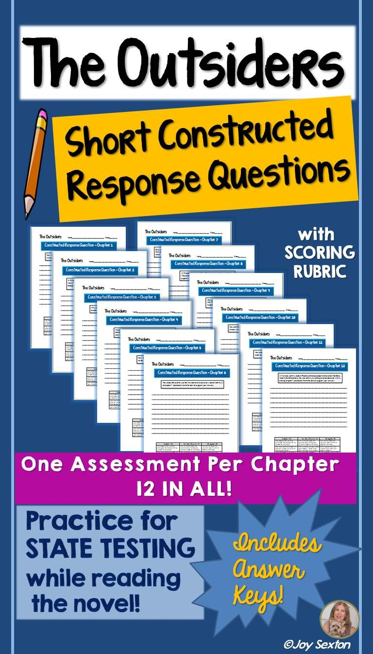 Outsiders Essay Questions The Outsiders Short Constructed Response Questions Common Core