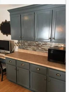 Kitchen Bath Revamp Plaster Paint Flannel With Paste Wax Buffed