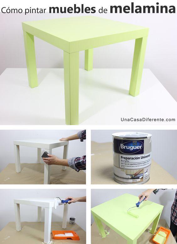 Quieres pintar muebles de melamina y no te atreves o no for Pintar muebles de cocina antes y despues