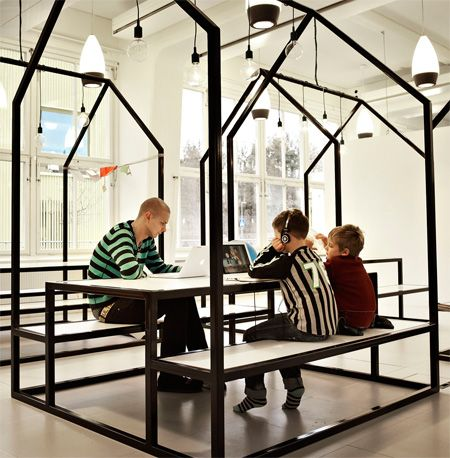 DSGN for kids: Vittra school Brotorp, Stockholm Sweden- by Rosan Bosch Studio