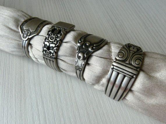 Silver Spoon Napkin Rings