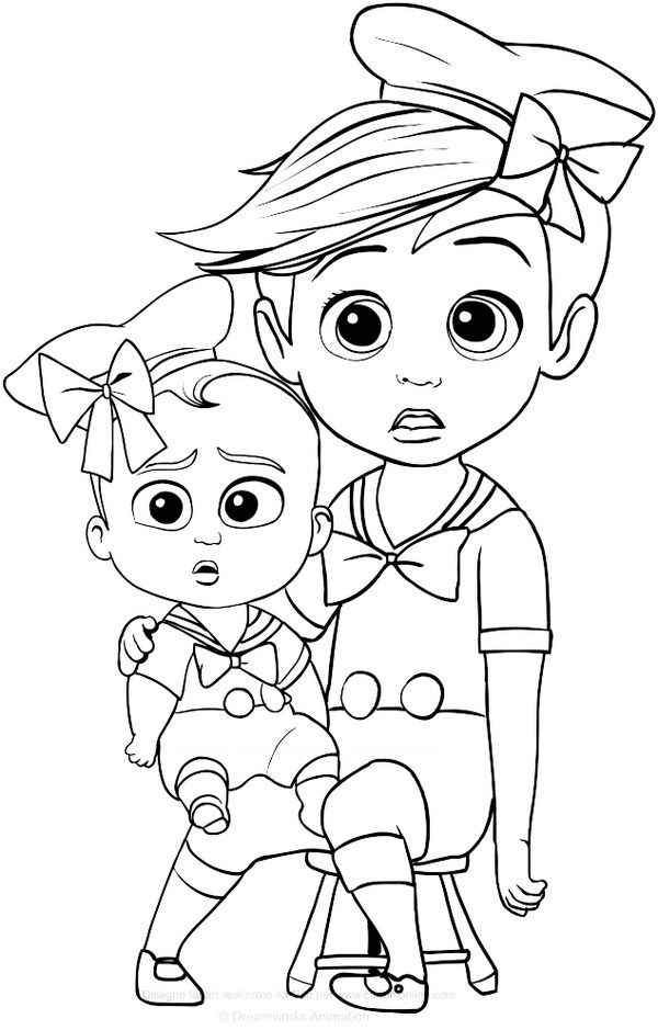 The Baby Boss Coloring Pages Printable Baby Coloring Pages Coloring Pictures Cartoon Coloring Pages