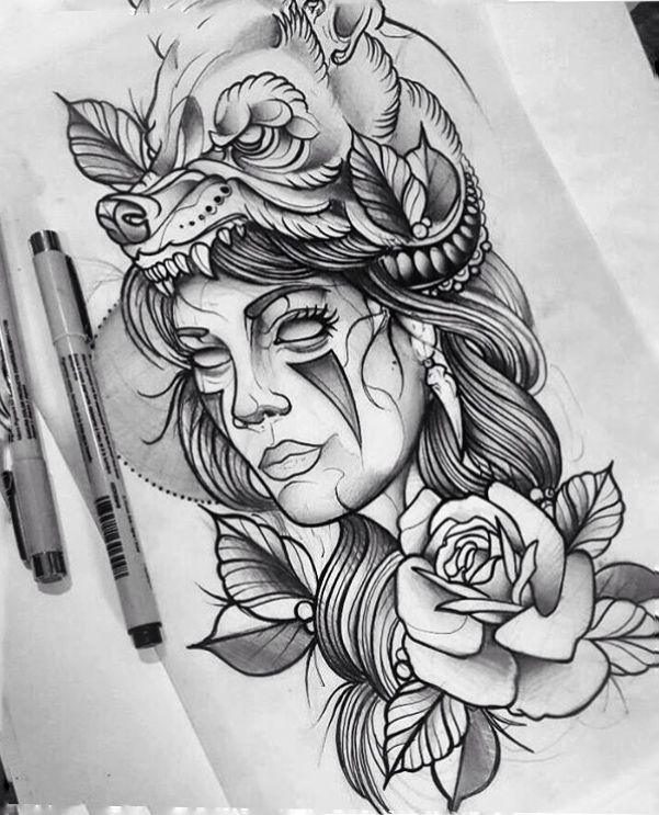 Tattoo Woman Face Design: Pin De Jhon Jairo En Ilustraciones