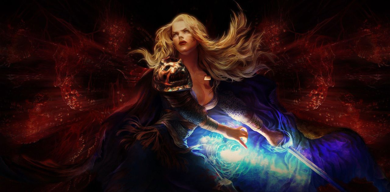 Wallpapers Warriors Magic Swords Blonde Girl Path Of Exile Games Fantasy Image 465239 Download Fantasy Images Poe World Of Warcraft Gold