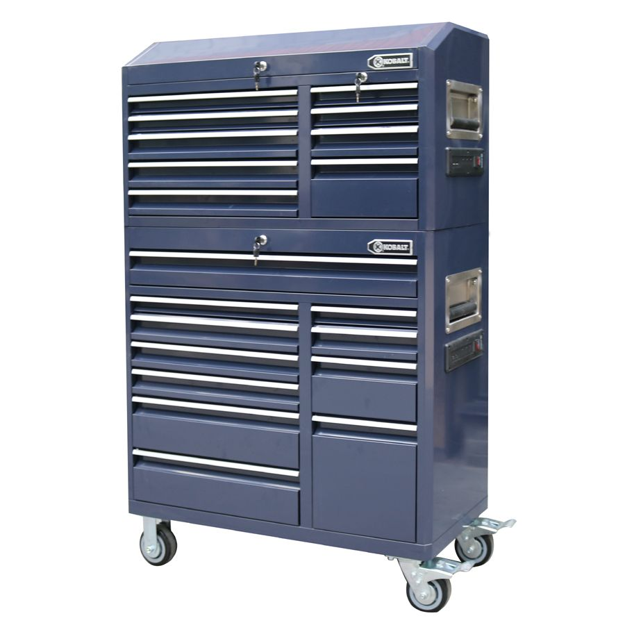 Shop Kobalt 22 5-in x 41-in 9-Drawer Ball-Bearing Steel Tool Chest