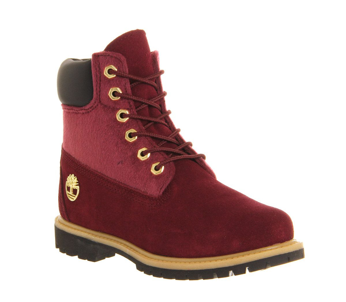 Timberland Premium 6 Boot Burgundy Faux Pony Exclusive - Ankle Boots