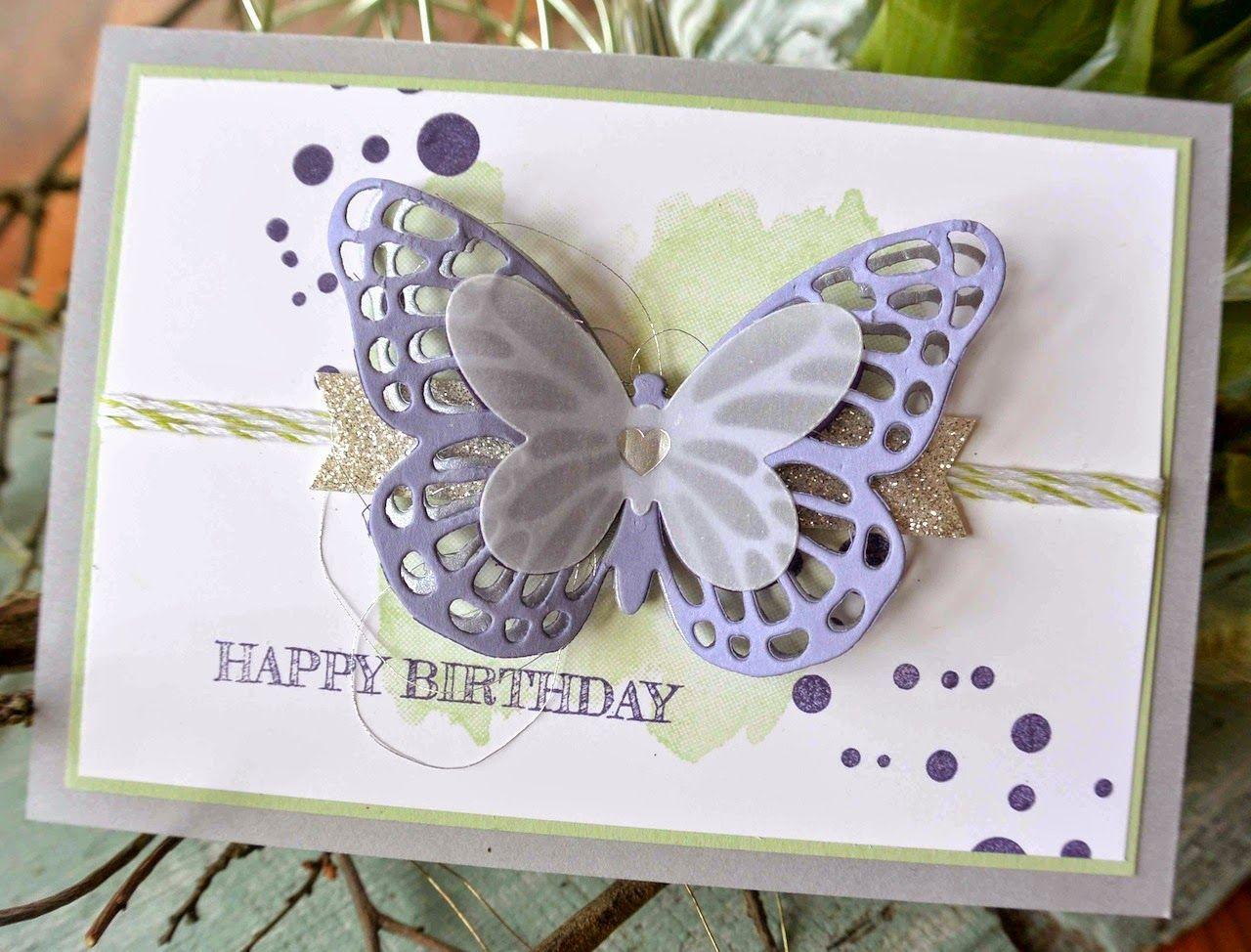 Süsse Schmetterling Geburtstagskarte basteln | Karten basteln ...