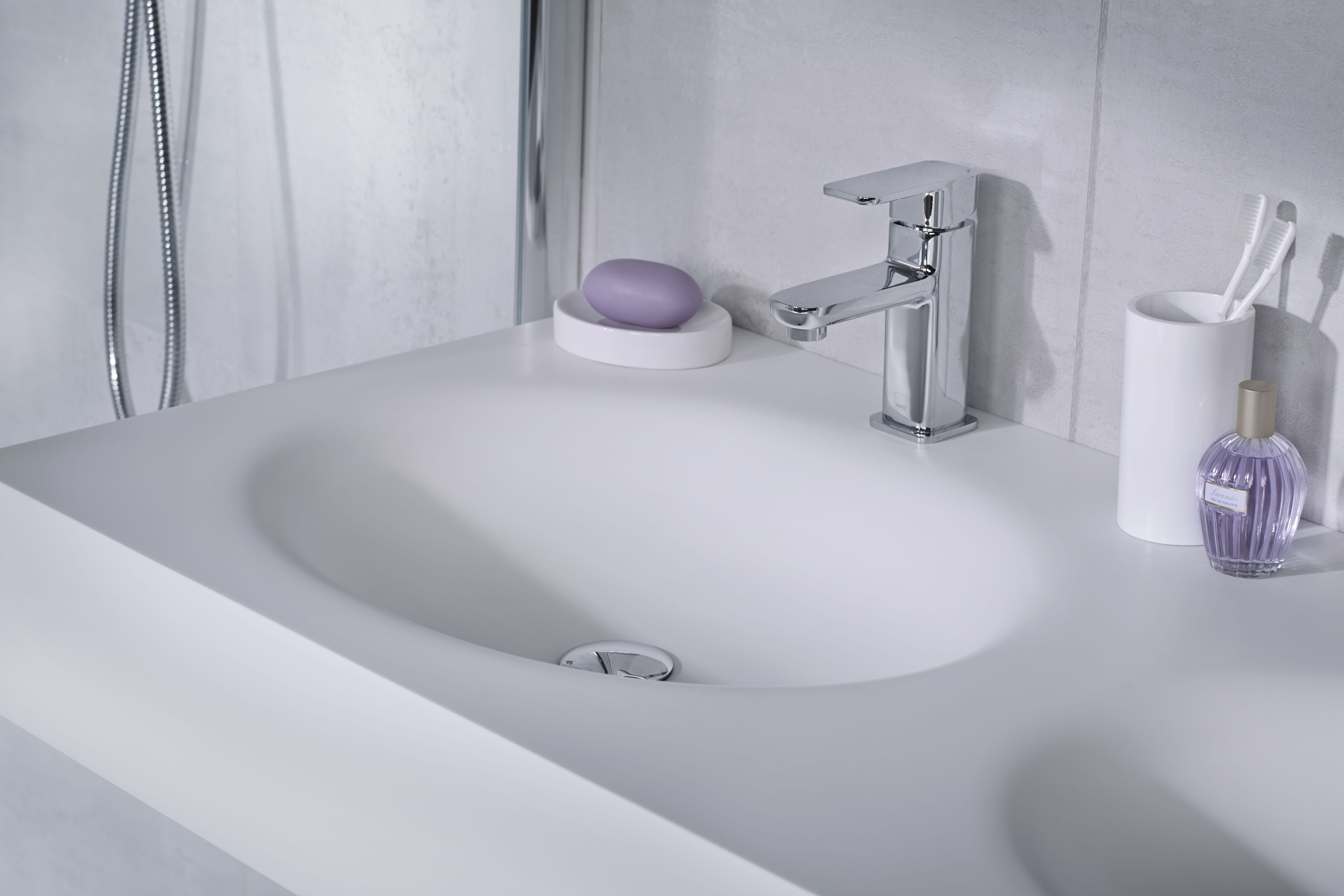 The stunning looks of a fully integrated inset basin vanityhall