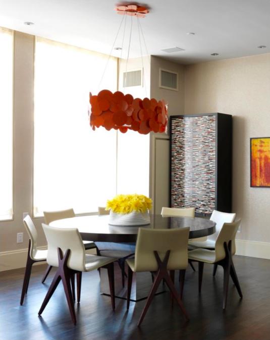 Orange color chandeliers loft nyc chandelier lighting chandelier attic lofts new york city