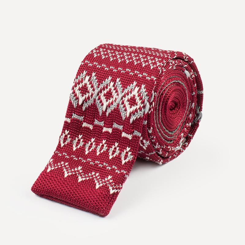 Great Holiday tie without being too much - Knit Fair Isle Tie in ...