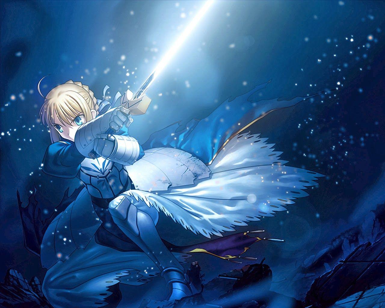 Dark Saber Dark anime, Fate stay night, Anime wallpaper