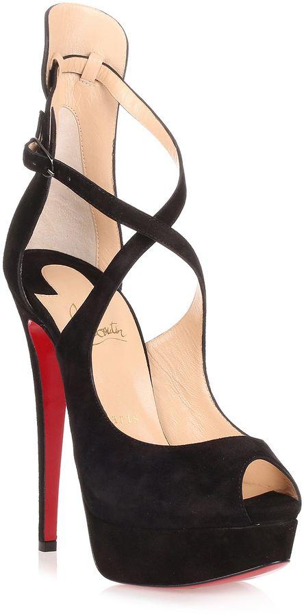 7f3ea8474dc Christian Louboutin Marlenalta 150 black suede sandal