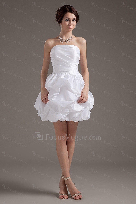 US $89.00   Taft trägerlosen kurzen ballkleid brautkleid mit rüschen ...