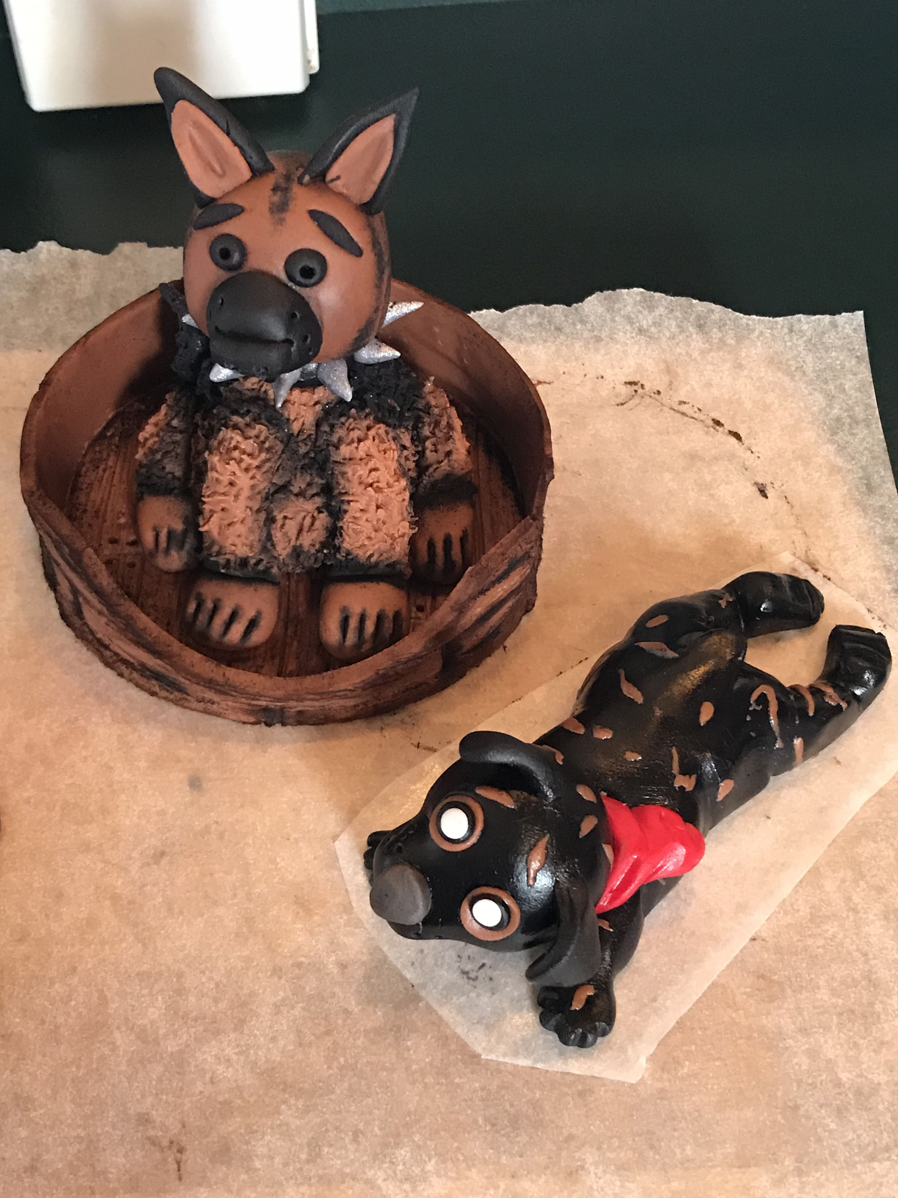 Fondant dog cake toppers dog cake topper fondant dog