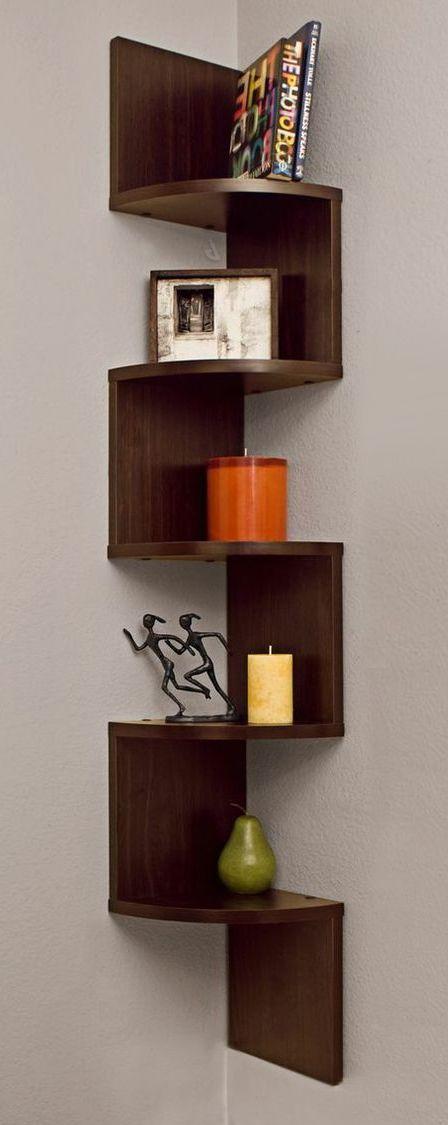 Corner Zig Zag Wall Shelf Furniture Design Shelf Furniture
