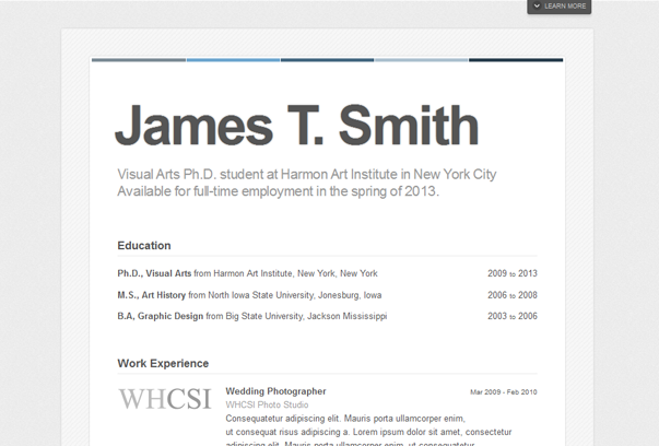 Pin By SyaochanCom On Cv LayOuts I Like    Wordpress