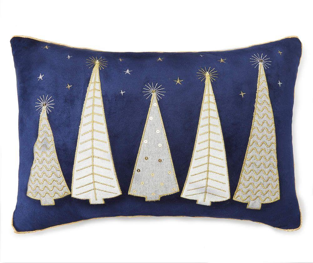 Pin By Elaine Stone On I Smell Snow Throw Pillows Christmas Gold Christmas Tree Blue Christmas Decor