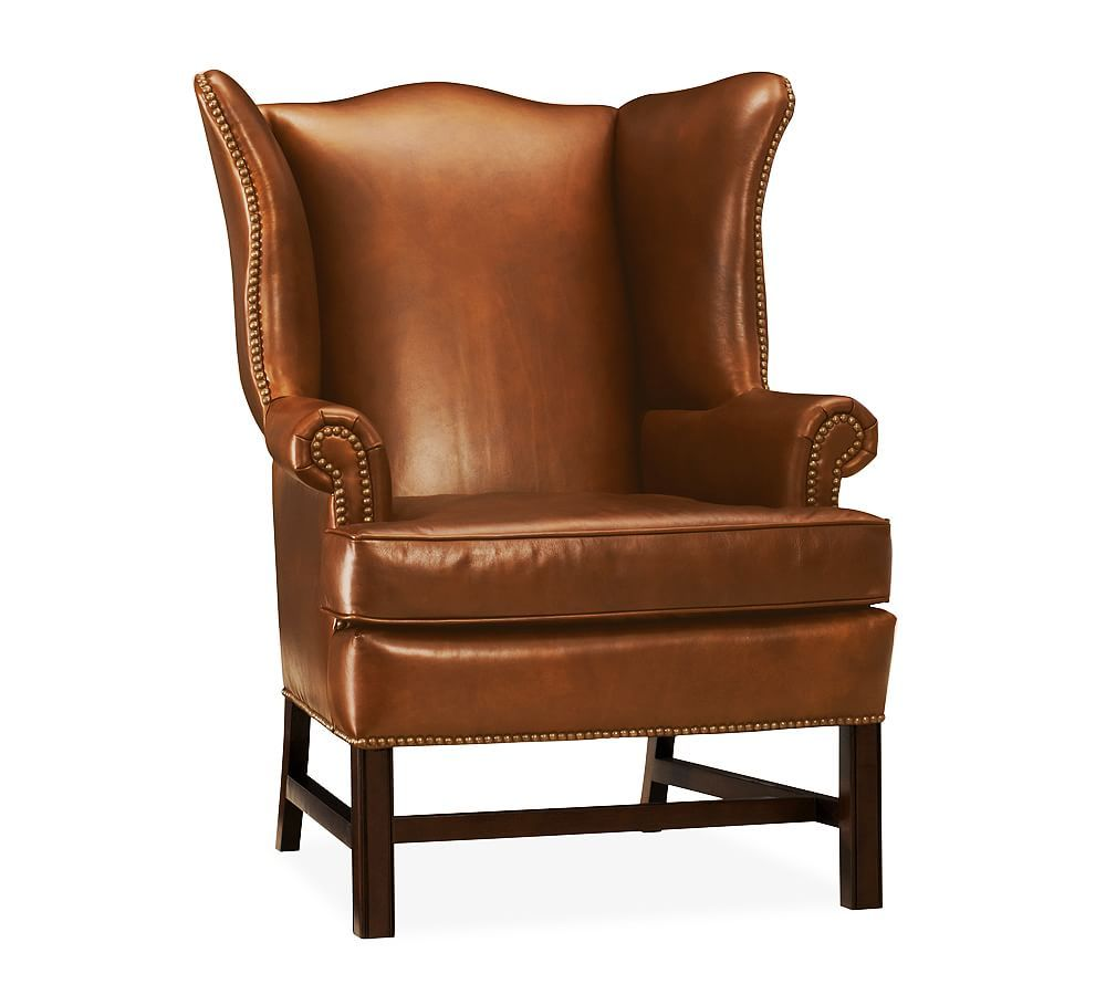 Thatcher Leather Upholstered Armchair Leather Chairs