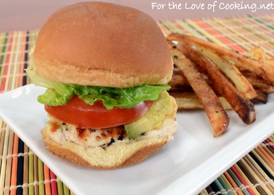 For the Love of Cooking » Grilled Chicken Sliders with Avocado