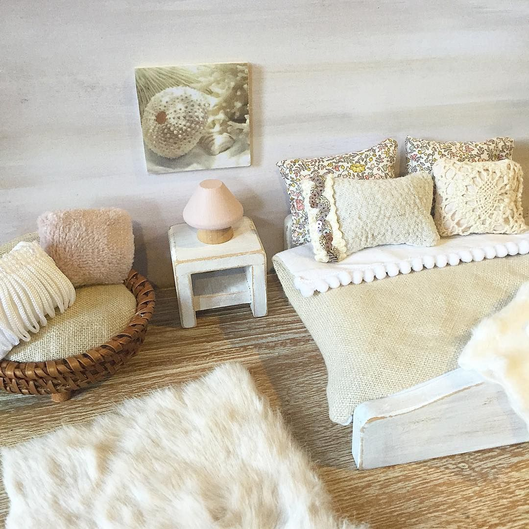 A little custom made bedroom setting I finished today. With a ...
