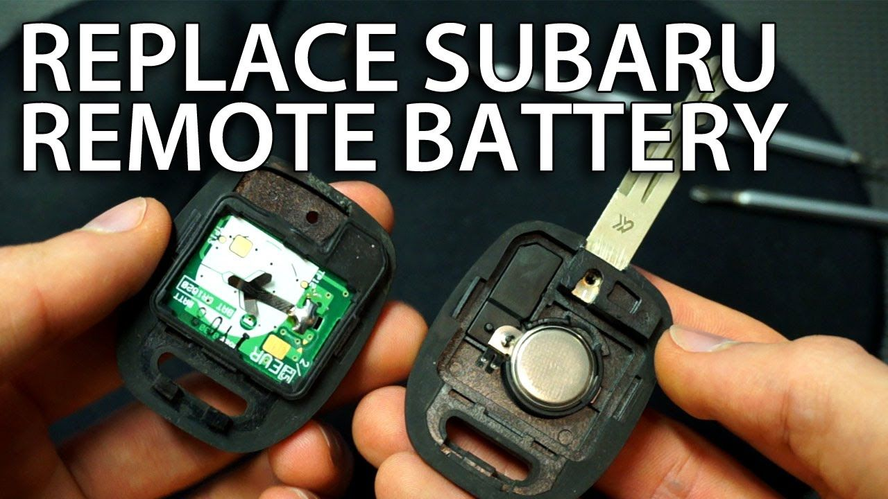 Subaru Replacement Key >> How To Change Battery In Subaru Key Remote Impreza Forester