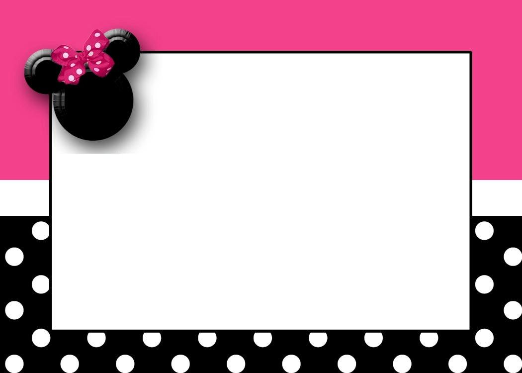 Minnie Mouse Birthday Card Template Letterjdi