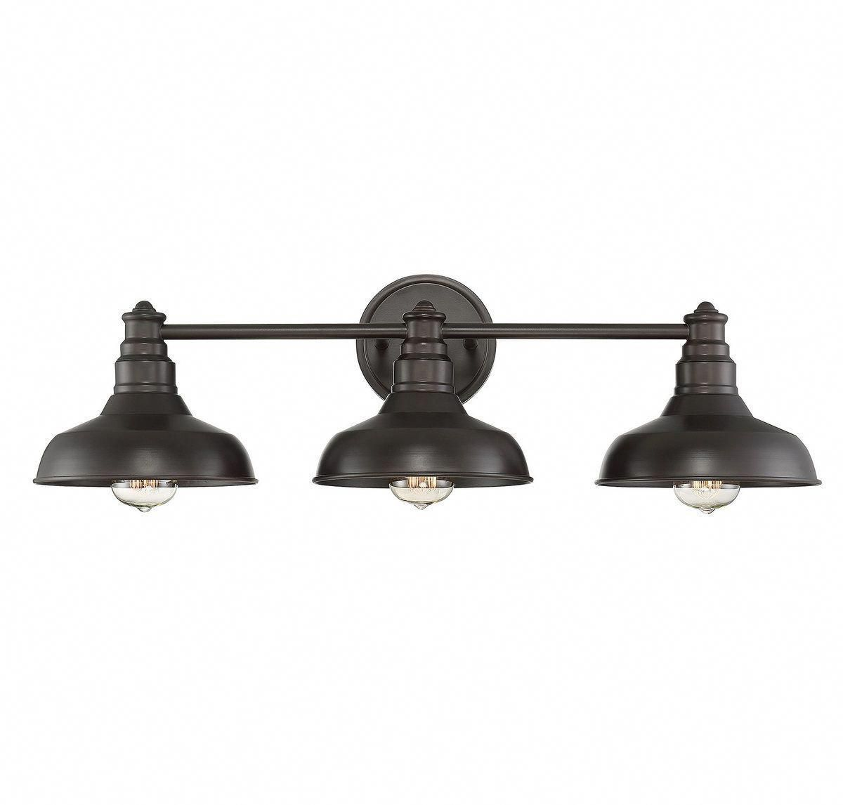 Trade Winds Lighting Vintage 3 Light 30 Bath Bar In Oil Rubbed Bronze Bathroom Vanity Lighting Ind Bathroom Vanity Lighting Bronze Bathroom Vanity Lighting