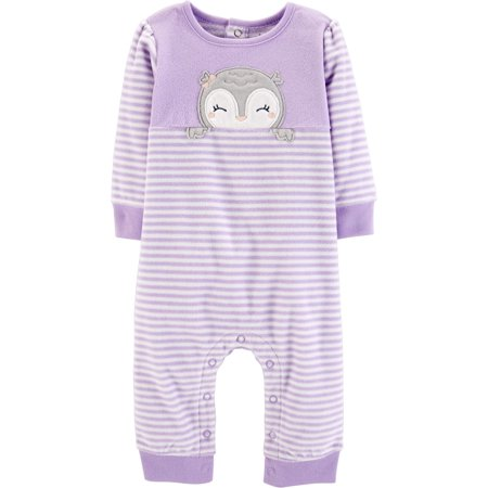 ccd1a2f499ed Child of Mine by Carter s Long Sleeve Footless Fleece Romper (Baby Girls)