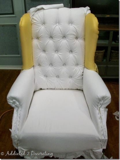 Exceptionnel Wingback Chair Progress 2