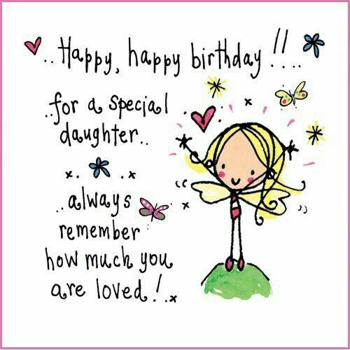 Hedendaags ♡☆ Happy Birthday Daughter! ☆♡ More | Dochter verjaardag BI-38