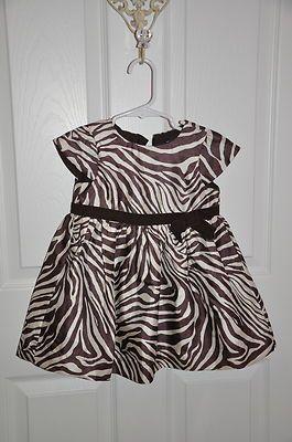 Baby Gap Toddler S Brown Zebra Print Holiday Dress Ebay Followitfindit So Cute